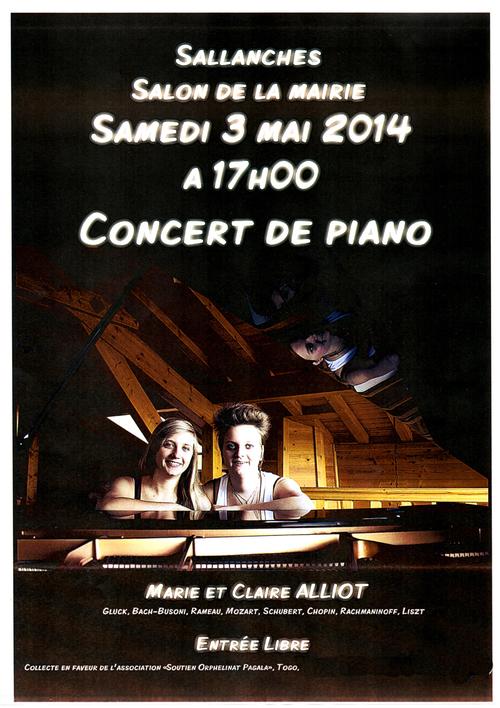 Concert de Piano au profit de l'orphelinat de Pagala