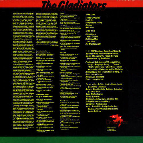 "The Gladiators : Album "" Symbol Of Reality "" Nighthawk Records ‎NH305 [ US ]"