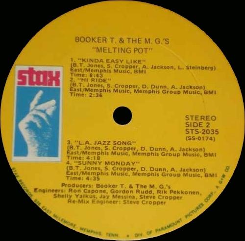 "1971 : Album "" Melting Pot "" Stax Records STS 2035 [ US ]"
