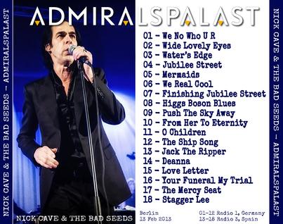 Le choix des lecteurs # 59: Nick Cave - Admiralspalast 2013