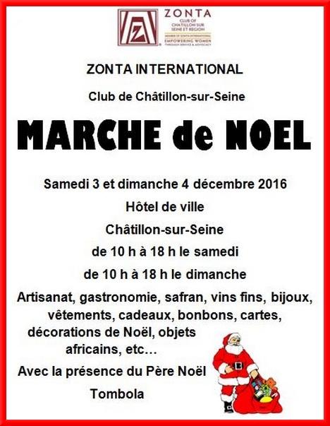 Le marché de Noël du Zonta-Club Châtillonnais aura lieu samedi 3 et dimanche 4 novembre...