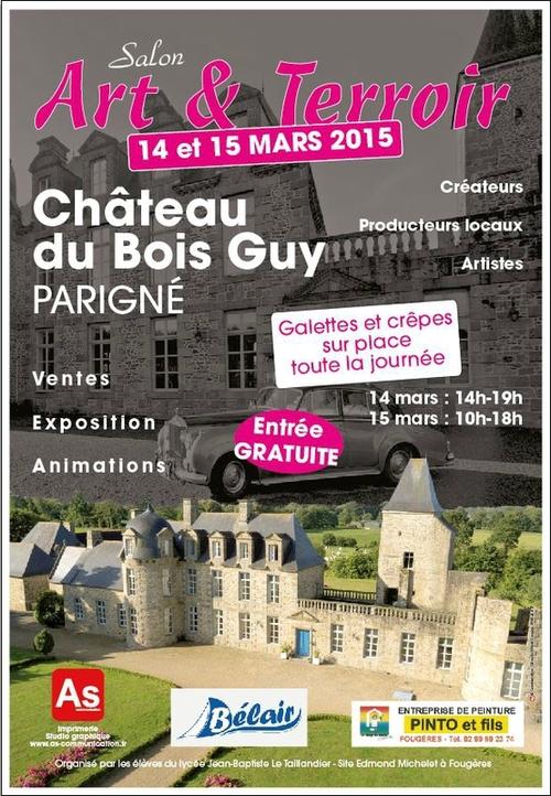 Samedi 14 et dimanche 15 mars, au château de Bois-Guy