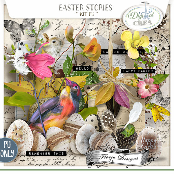 Easter Stories { kit PU } by Florju Designs