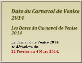 VENISE et son carnaval !     25 mars
