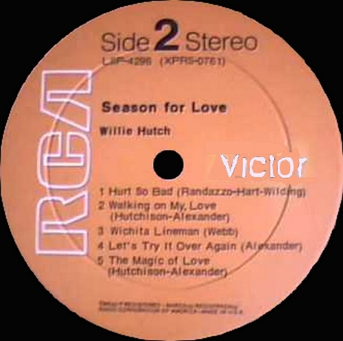 "Willie Hutch : Album "" Season For Love "" RCA ‎Victor Records LSP-4296 [ US ]"