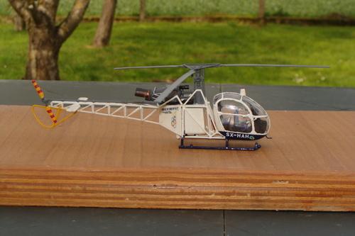 Maquette hélicoptère SE313B Alouette II SX-HAH au 1/48
