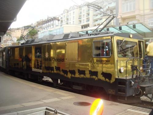 Locomotive en gare de Montreux