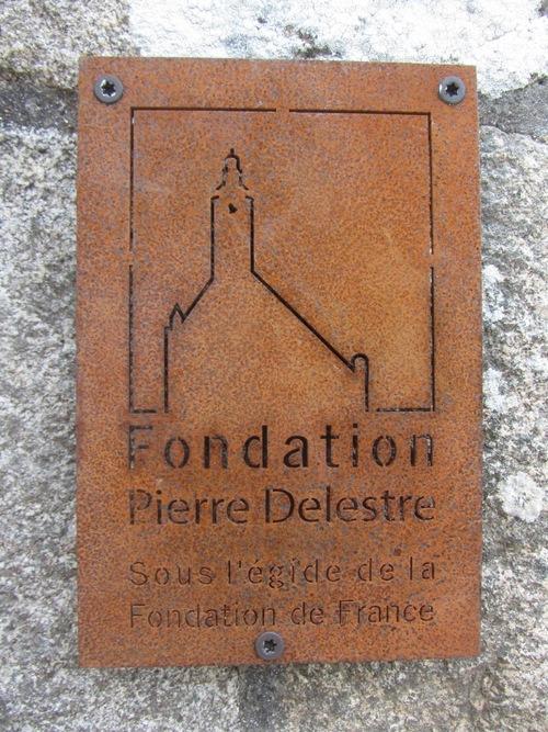 Chapelle : une plaque de la Fondation Delestre
