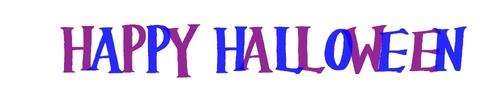 Écriture Happy Halloween [violet et bleu]