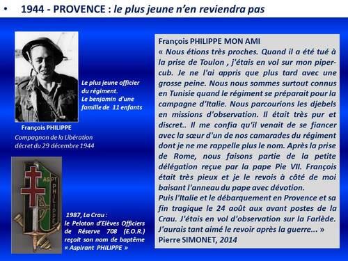* Le nom du Compagnon de la Libération François PHILIPPE donné à une rue de Cysoing (Nord)