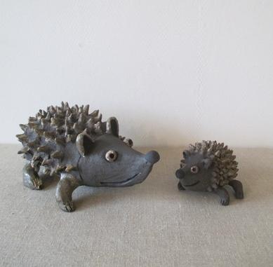 hérissons noirs-grès-michel cornut