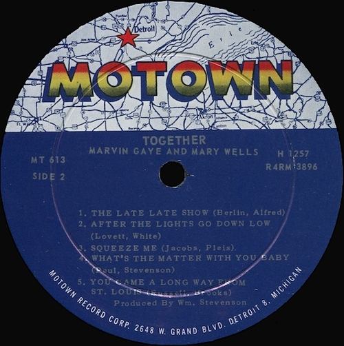 "Marvin Gaye & Mary Wells : Album "" Together "" Motown Records MT 613 [ US ]"