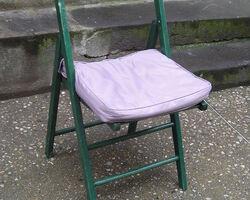 lot de 4 chaises pliantes avec coussins