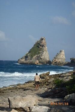 Pointe des Châteaux Saint François Guadeloupe j'aime