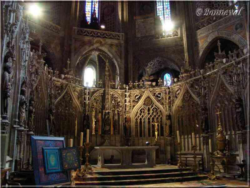 Cathédrale Sainte-Cécile d'Albi le Grand choeur à l'intérieur du Jubé