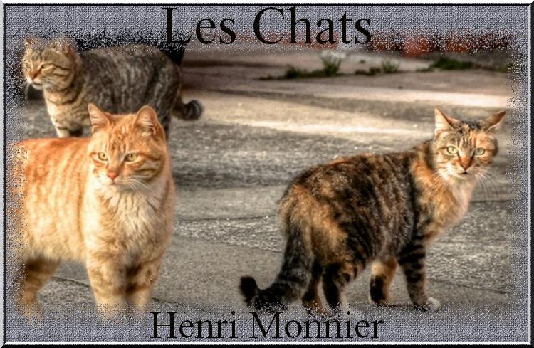 """""""Les Chats"""" poème de Henri Monnier"""