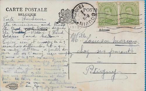CPA Belgique Belgie ROUX CHARLEROI Hainaut - Habitation du Père (Grand Docteur sans médicament - Ecole Morale)-recto