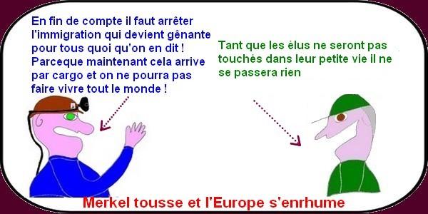 Merkel et l'Europe, la CGT bing bling , le social s'en va, ce sont les infos noires !