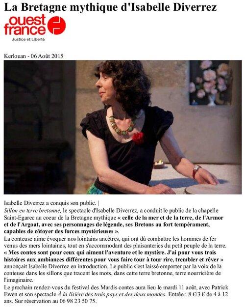 Isabelle DIVERREZ 4 AOÛT Ouest-France