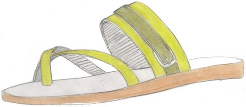tongue, flat sandal