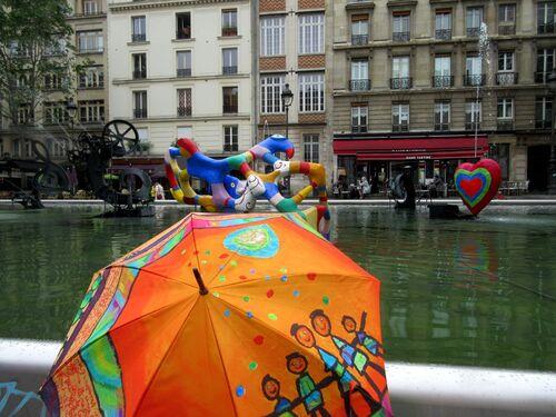 Ombrelles et fontaines