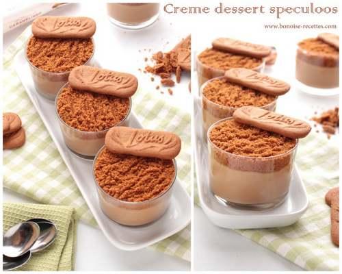 Crème dessert au spéculoos
