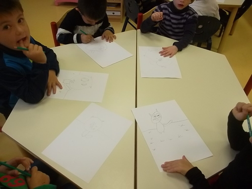 "Un illustrateur ""Christophe Boncens"" en classe"