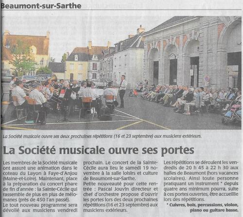 2016 09 Portes ouvertes à l'Harmonie de Beaumont sur sarthe