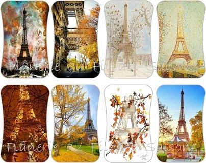Cartonnettes Tour Eiffel en Automne !