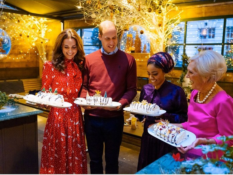 On the BBC's A Berry Royal Christmas