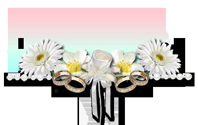 Création de barres séparatives fleurs et mariage en png