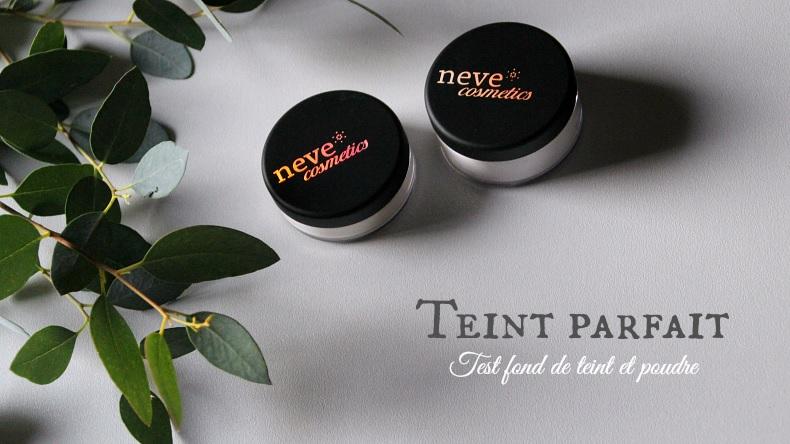 teint parfait - test fond de teint minéral et poudres - neve cosmetics
