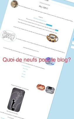 Quoi de neuf côté blog?