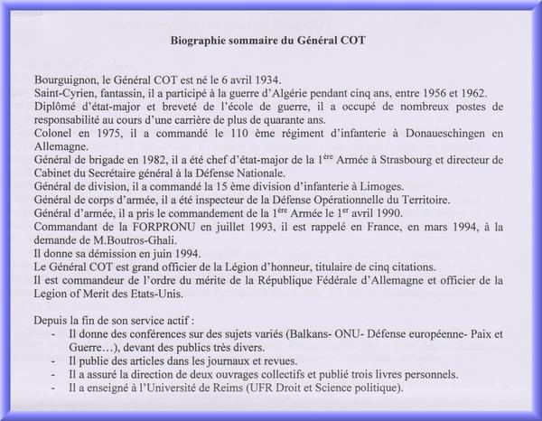 Le Général Jean Cot, membre des Amis du Châtillonnais, vient de publier un nouvel ouvrage...