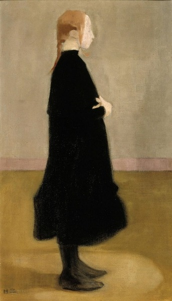 snowce: Helene Schjerfbeck, The School Girl II, 1908