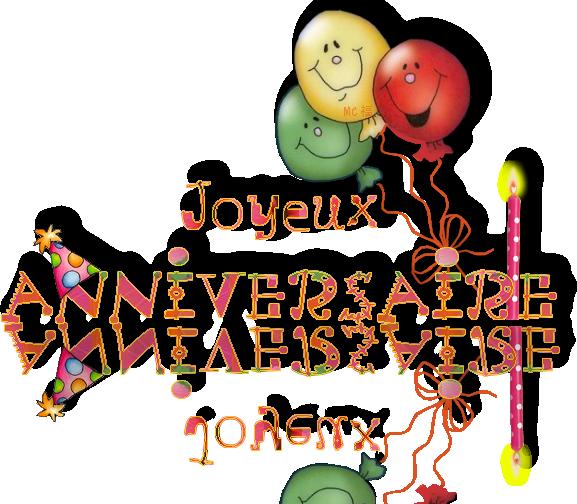 Joyeux anniversaire png tube