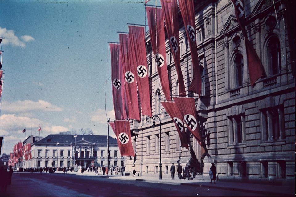 Croix Gammées, Drapeaux, Berlin, Allemagne, Nazi