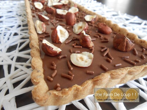 Tarte Choco'noisette