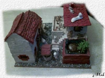 Ma réalisation - La maison provençale au chats