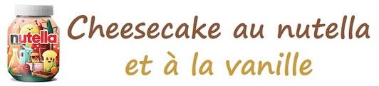 Cheesecake au nutella et à la vanille
