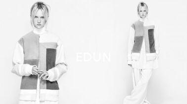 Le label éthique Edun se met au noir et blanc pour sa campagne hivernale