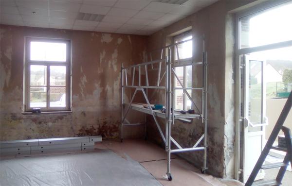 La salle des fêtes est en travaux