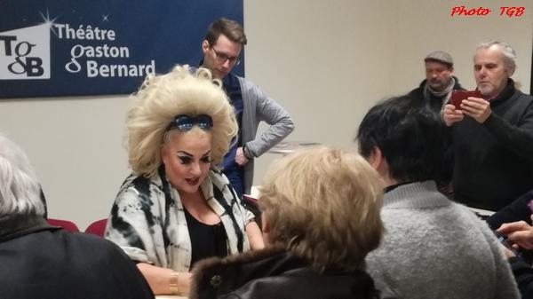 """La flamboyante Marianne James, dans son spectacle """"Miss Carpenter"""", a enthousiasmé les spectateurs du TGB !"""