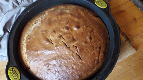 Gâteau D'anniversaire du petit...Gâteau au yaourt amélioré^^ {Vegan}
