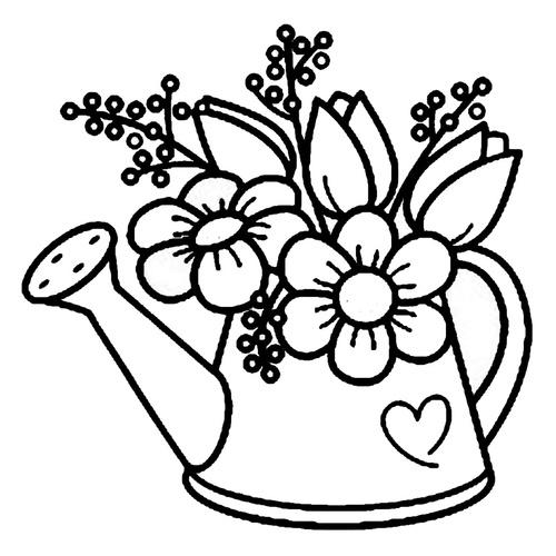 un arrosoir fleuries