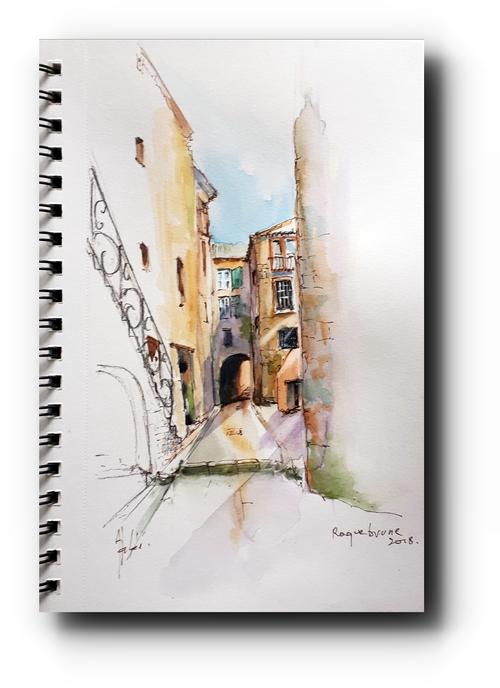 Roquebrune village, ruelle