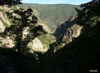 Vue sur les gorges de la Carança depuis l'amont