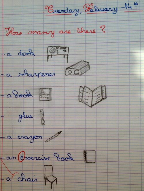 Modèle de cahier d'anglais
