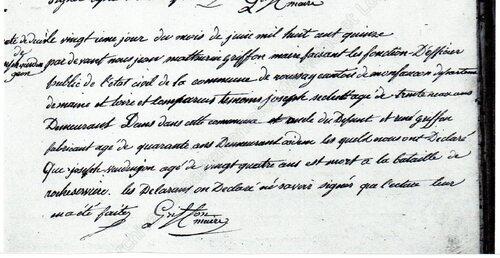 René Subileau et Joseph Vendangeon, 1815....