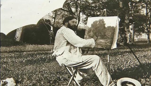 Gustave Courbet portrait chevalet